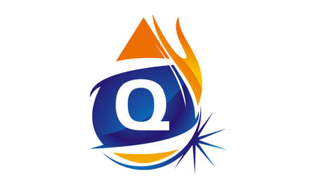 Water Fire Flame Gas Oil Initial Q