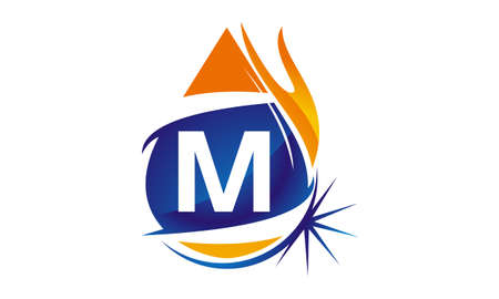 Water Fire Flame Gas Oil Initial M