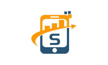 Mobile Marketing Initial S Illusztráció