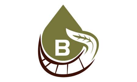 Oil Olive Nature Leaf Initial B Illustration