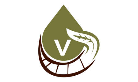Oil Olive Nature Leaf Initial V