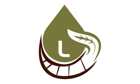 Oil Olive Nature Leaf Initial L Illustration