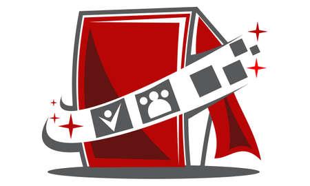 Photo Booth Logo Illusztráció