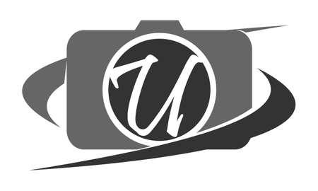movie film: Photography Service Letter U Illustration