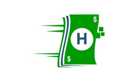 Speed Payment Technology Initial H Векторная Иллюстрация