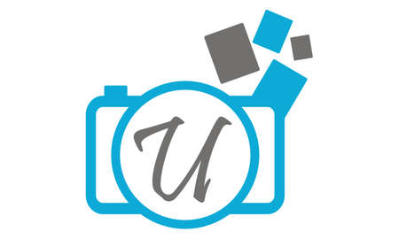 Photography Service Initial U Illustration