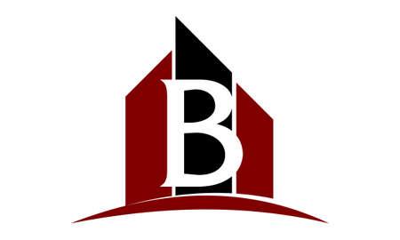 Real Estate Letter B Illustration