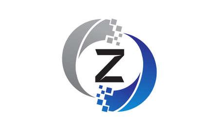 Technology Transfer Letter Z Illustration