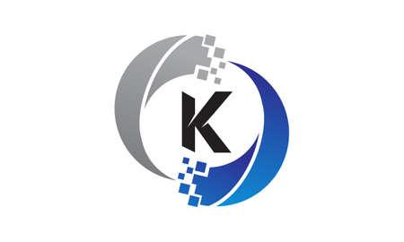 Technology Transfer Letter K Illustration