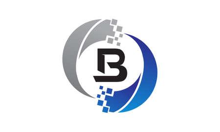 Technology Transfer Letter B Illustration