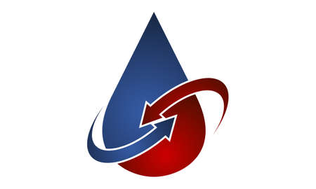Oil Water logo design Illustration