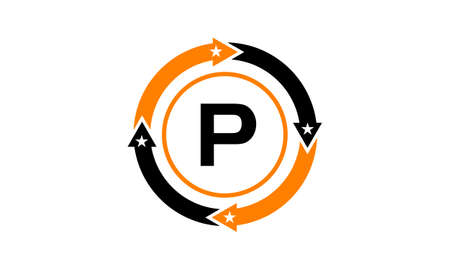 Way to success Initial P Illustration