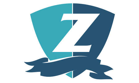 Shield Ribbon Letter Z