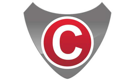 asociacion: Letra moderna C del escudo del logotipo