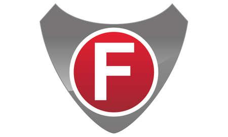 Modern Logo Shield Letter F