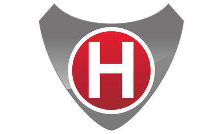 Modern Logo Shield Letter H Illustration