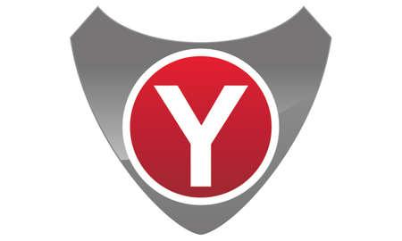 Modern Logo Shield Letter Y Illustration