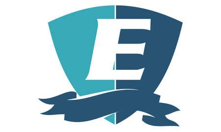 Shield Ribbon Letter E