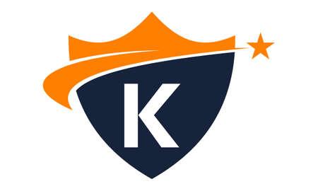 Star Swoosh Letter k