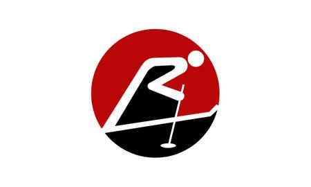 Ski Logo Template