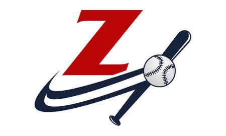 fastball: Base Ball Letter Z Illustration