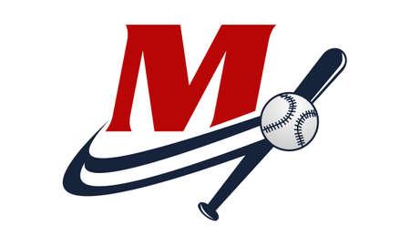 fastball: Base Ball Letter M Illustration