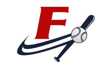 Base Ball Letter F