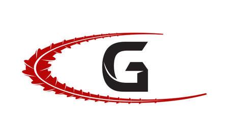 Steel Supply Initial G Illustration