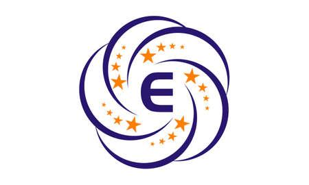 Star Swoosh Initial E