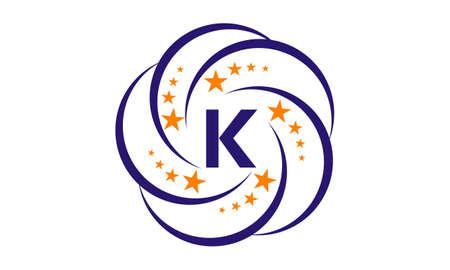 Star Swoosh Initial K