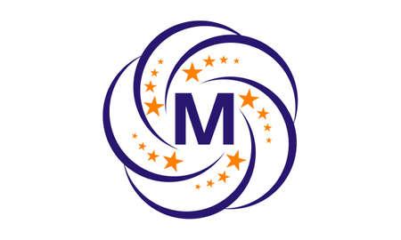 Star Swoosh Initial M