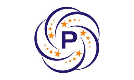 Star Swoosh Initial P Stock Illustratie