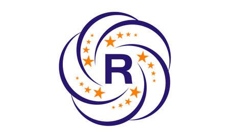 Star Swoosh Initial R Stock Illustratie