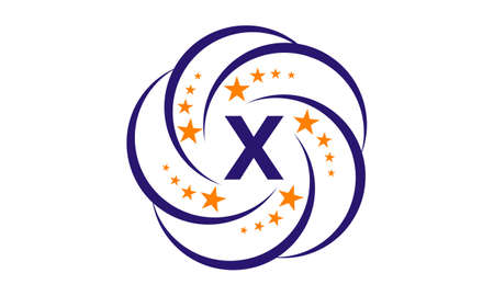 x rated: Star Swoosh Initial X