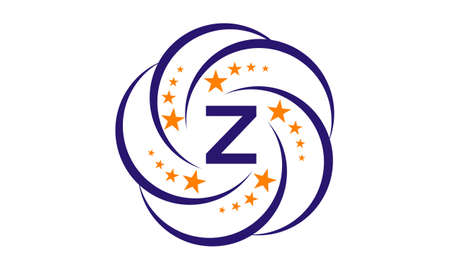 Star Swoosh Initial Z Stock Illustratie