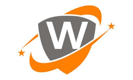 potential: Shield Star Swoosh Initial W