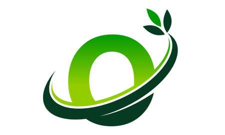Swoosh Leaf Letter O