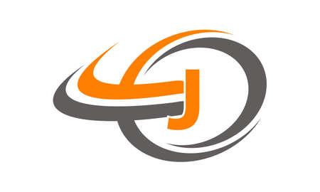 Swoosh Center Letter J
