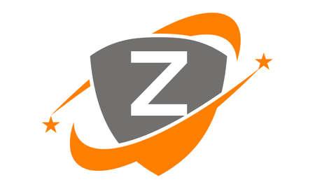 Shield Star Swoosh Initial Z