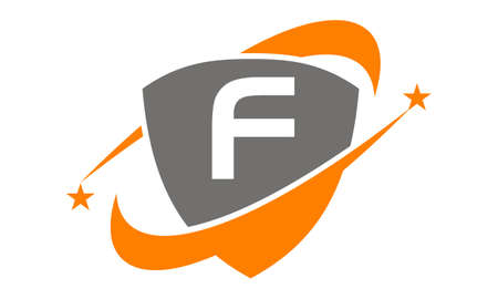 on top of the world: Shield Star Swoosh Initial F