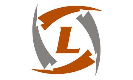 Arrow Rotation Swoosh Letter L