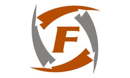 Arrow Rotation Swoosh Letter F
