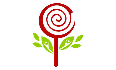 Candy Tree Logo Banque d'images - 78665514