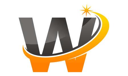 星は、W の文字をシューッという音します。