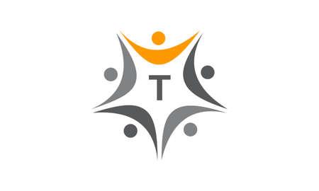 Success Life Coaching Initial T Stock Illustratie