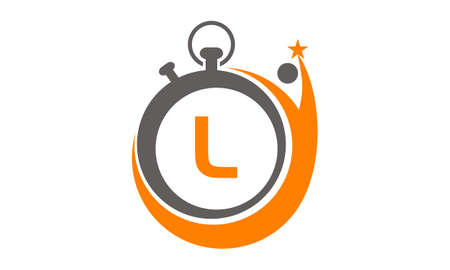 Success Time Management Letter L Illustration