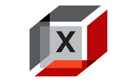 Box Initial X Illustration