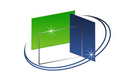Glass Service Industry  イラスト・ベクター素材