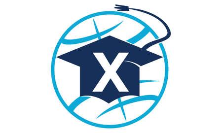 initial cap: World Education Letter X
