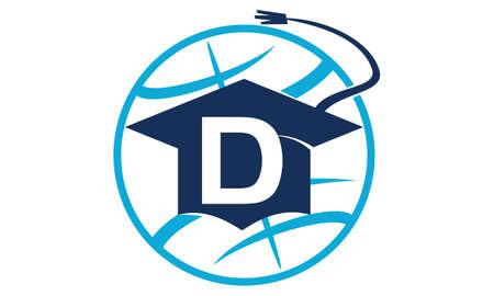 initial cap: World Education Letter D Illustration